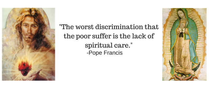 The worst discrimination that the poor suffer is the lack of spiritual care.-2